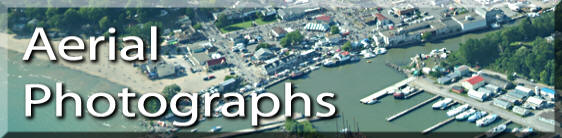 Photo link to aerial photographs of Port Dover and area, Norfolk County on Lake Erie Ontario